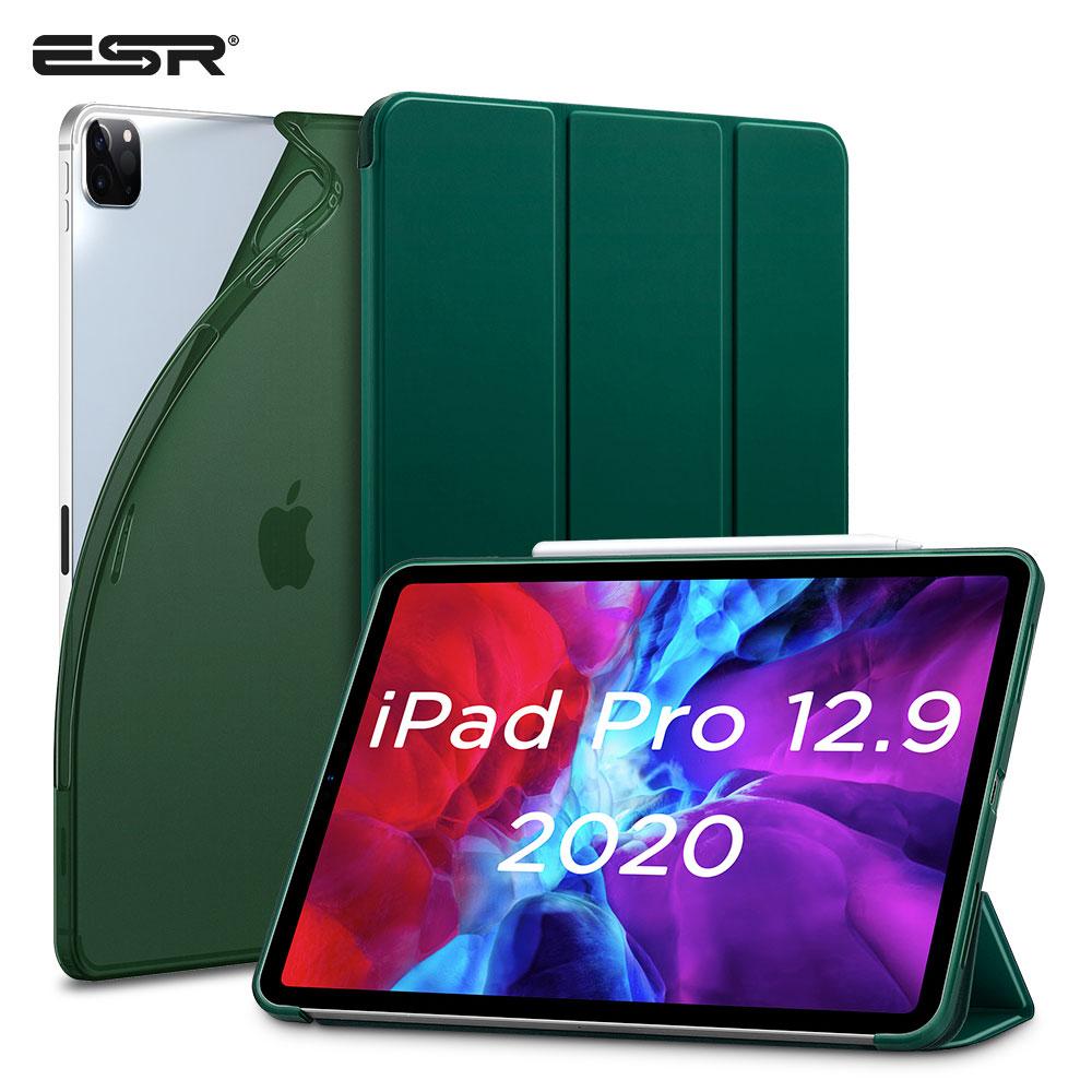 ESR for iPad Pro 12.9 Case 2020 Soft TPU Cover for iPad Pro 2020 11 inch 12.9 4th Gen Case Auto Wake Sleep Smart Case Back Cover(China)