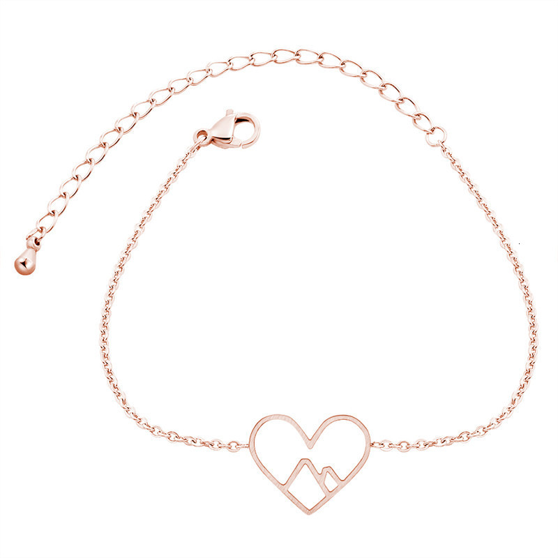 Rose-Gold-Mountain-Heart-Bracelets-For-Women-Hiking-Ski-Nature-Yoga-Love-Jewelry-Stainless-Steel-Charm (1)