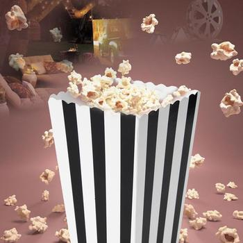 12 sztuk pudełka popcornu Favor cukierki traktować pudełka popcornu na zaopatrzenie imprezy Baby Shower wesele dekoracji tanie i dobre opinie CN (pochodzenie) 12pcs Tektura W paski Na imprezę CHRISTMAS Walentynki Ślub New Year Na Dzień Dziecka Ślub i Zaręczyny
