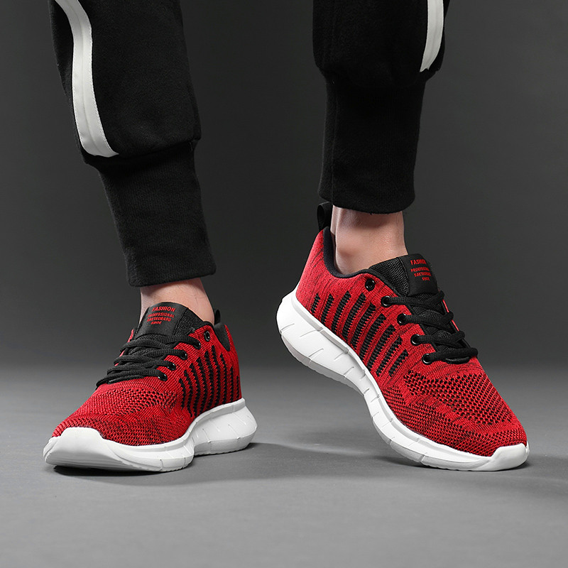 Trend Style Men's Casual Shoes Fashion Breathable High quality men's shoes breathable fashion running shoes mesh shoes Masculino