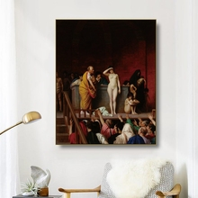 Canvas Art Oil Painting《Slave Market in Rome》Leon Gerome Art Poster Picture Wall Decor Modern Home Decoration For Living room