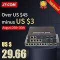 10 porta Gigabit Ethernet Switch di Rete A 1000M Media Converter 2 slot sfp in fibra di porta e 2 4 8 rj45 porta Transceiver In Fibra Ottica