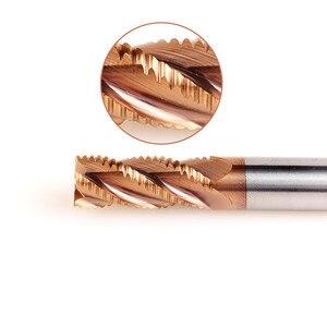 ZGT Schruppen Schaftfräser Metall Cutter HRC55 4 Flöten 4mm 6mm 8mm10mm Legierung Hartmetall Wolfram Stahl Fräser Schruppen ende Mühle