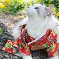 Одежда для кошек Новогоднее японское кимоно для собак Одежда для кошек Tedibi Золотой Мао самойе Одежда для кошек милый костюм для котенка