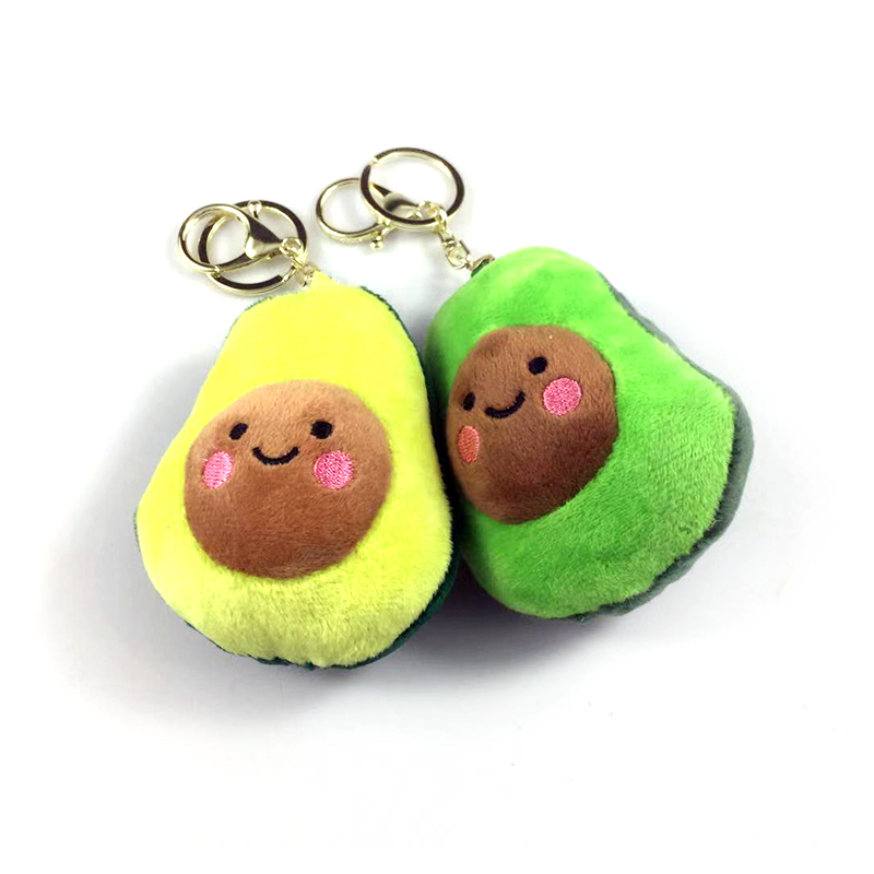 Avocado Plush Pendant Soft Comfortable Fruits Cartoon Kawaii Stuffed Toy Boy Girl Birthday Kids Gift