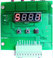Visual light source controller four channel digital display control board MODBUS industrial lighting RS485 power supply
