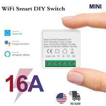 10/16A Tuya WiFi חכם מתג Led אור חכם חיים לדחוף מודול תומך 2 דרך APP קול ממסר טיימר google בית Alexa