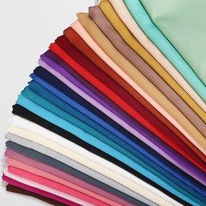 Image 1 - קידום מכירה! חלק מט צבע סאטן צעיף ארוך צעיף רגיל מוצק צבע משי מרגיש בגימור נשים חיג אב מוסלמי צעיפים לעטוף