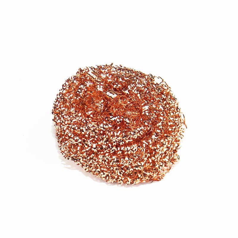 Bola de limpeza desoldering metal dross caixa de ponta de ferro de solda elétrica mais limpa malha filtro de fio de cobre bico de fio de cobre bola