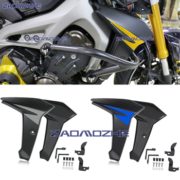 цена на For Yamaha FZ MT FJ 09 Radiator Side Panel Protector Cover Fairing 2014 2015 2016 MT09 FZ09 FJ09 MT-09 FZ-09 FJ-09 ABS Plastic