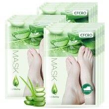 efero 1pair Feet Exfoliating Remove Dead Skin Heel Cracks Foot Mask Peeling Socks