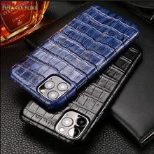 Echtes Leder Fall Für iPhone 11 12 Pro MAX Mini 12Mini SE 2020 7 8 Plus 12Pro 11Pro X XR XS Max Fall Luxus Telefon Zurück Abdeckung