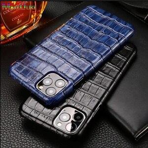 Image 1 - Iphone用本革ケース11 12プロマックスミニ12ミニse 2020 7 8プラス12Pro 11Pro × xr xs最大ケース高級電話バックカバー