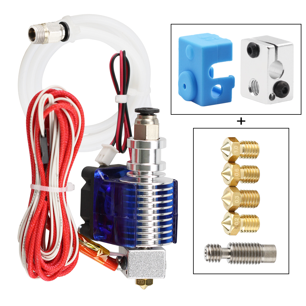 3D Printer J-head Hotend with Single Cooling Fan for 1.75mm-3.0mm 3D v6 bowden Filament Wade Extrude