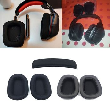 Foam Ear Pads Pillow Cushion Sponge Set Ear Cotton Earmuffs Breathable Mesh Accessories Head Beam For logitech G633 G933 image