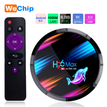 H96 MAX X3 Smart TV Box Android 9.0 4GB 128GB Amlogic S905X3 2.4G/5G WIFI BT4.0 1000M 8K Google Media Play H96MAX Andorid TV Box