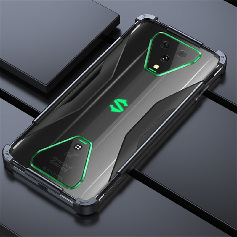 Adjustable Universal Stainless Steel Metal Bumper Case For Xiaomi Black Shark 3 Pro 2 Pro Helo Case Aluminum Phone Cover Funda
