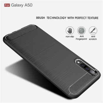 For Samsung Galaxy A10 A20 A30 A40 A50 A60 A70 A10E A20E A70E Case Carbon Fiber Cover for A10S A20S A30S A50S A70S A90S A21S 1