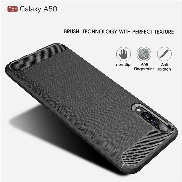 For Samsung Galaxy A10 A20 A30 A40 A50 A60 A70 A10E A20E A70E Case Carbon Fiber Cover for A10S A20S A30S A50S A70S A90S A21S 1