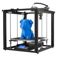 Ender 5 mais impressora 3d de alta precisão tamanho grande 350*350*400 impressora 3d nivelamento automático  z eixo duplo sem energia currículo creality 3d|Impressoras 3D| |  -