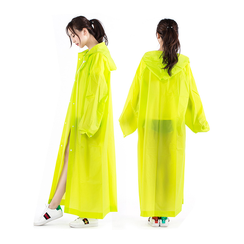 Fashion Adults EVA Men Women Conjoined Raincoat Thickened Waterproof Rain Coat Poncho Universal Outdoor Travel Rainwear Suit