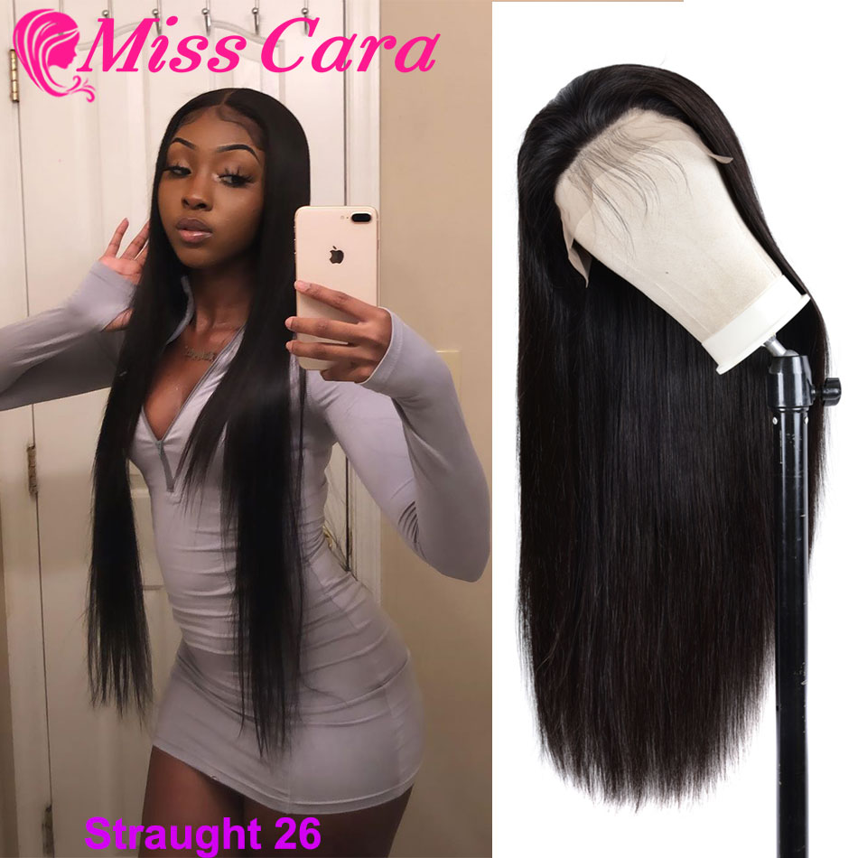 Peruvian Straight Hair Lace Front Human Hair Wigs With Baby Hair 180% Density Hand Tied Lace Front Wigs Miss Cara Remy Hair Wigs