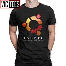 Ubuntu-Camiseta Linux para Hombre, Camiseta de algodón 100%, programador de programación, Camisas clásicas de gran tamaño