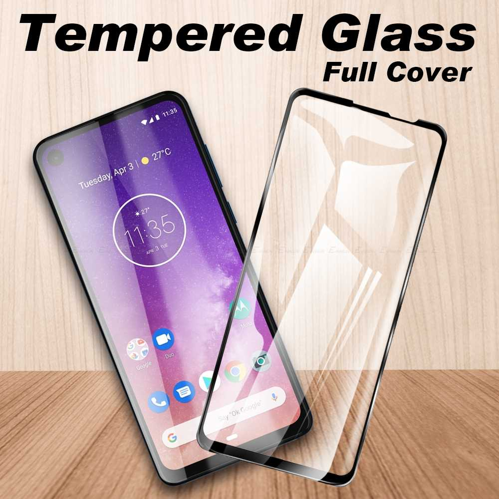 Pelindung Pelindung untuk Motorola MOTO Satu Visi Action Power Makro Zoom P50 P30 Tempered Glass Full Cover Film