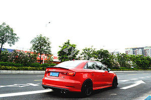 Image 5 - A3 S3 8V Carbon Fiber Kofferbak Lip Spoiler Wing Voor Audi A3 S3 8V Sedan 2014 2015 V Stijl