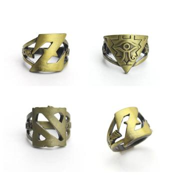 Finger Ring Gifts Dragonball Dota Game Master cosplay Rings Anime Z 18mm Handmade Brozen Size 8 image