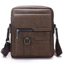 Fashion Men Shoulder Bag for 10.5″ ipad Men PU Leather Flaps Men's Crossbody Bags Business Brown Flap Male Solid Messenger Bag