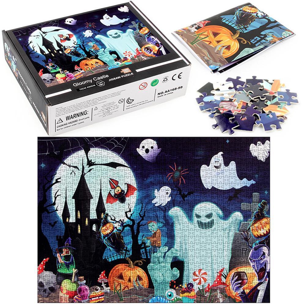 Quebra-cabeça de tema de halloween, 1000 peças,