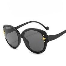 2020 роскошные кошачий глаз Солнцезащитные очки Женщины мужчины ретро бренд дизайнер негабаритных рамка солнцезащитные очки женский оттенки óculos Грандиент