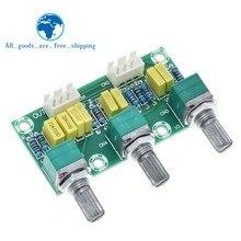 XH-M802 placa de tom passivo amplificador preamp módulo de potência baixo ajuste de som alto electonic diy placa pcb eletrônico