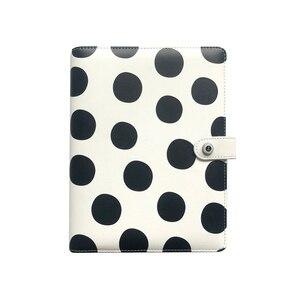 Image 1 - Lovedoki noir blanc à pois journal personnel A5 spirale cahier planificateur organisateur affaires école et bureau papeterie fournitures