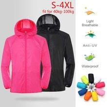 Vêtements de pluie à protection anti-UV, veste de randonnée, imperméable, à séchage rapide, coupe-vent de camping et pour la chasse, protège contre les rayons néfastes du soleil
