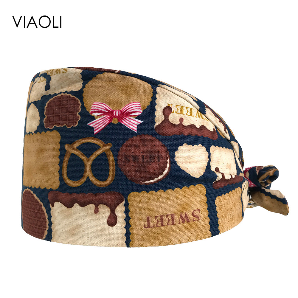 Viaoli Male Female Doctor Scrubs Pharmacy Work Cap Surgery Nurse Hat Oral Cavity Dental Clinic Pet Surgical Cap Women Scrubs