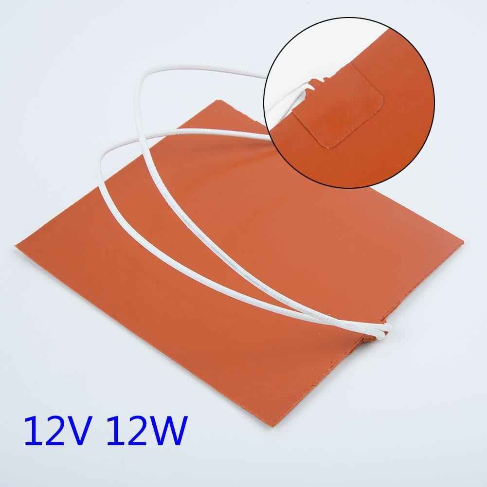 1 * Нагревательный коврик 12 В 12 Вт силиконовый нагреватель для принтера Подогрев кровати нагревательный коврик 100*120 мм Прочный водонепрониц...