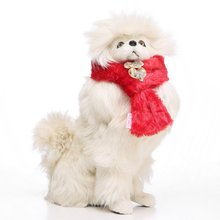 Christmas Pet Dog Scarves Warm Puppy Bow Tie Cat Scarf Winter Accessories Products For Pets Dogs CollarsN Supplies  x