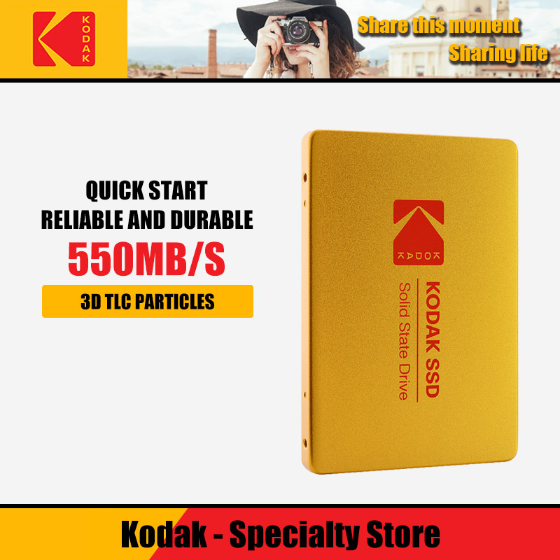 Kodak X100 SSD HDD Hard Disk HD 120GB 240GB 480GB 960GB 2.5 Inch SATA 3 Internal Solid State Disk For Laptop Desktop PC TLC