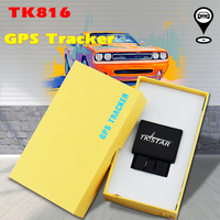 Car GPS Tracker TK816 OBD GPS with Diagnostic Function GPRS GSM Real Time Tracking Device Monitor Locator Over speed Alarm