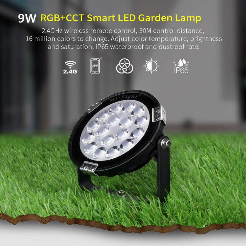 Miboxer Rgb + Cct Gazon Licht FUTC01/FUTC02/FUTC03 IP65 Waterdichte DC24V AC110V 220V 9W 15W Outdoor Tuin Flood Lamp 2.4G Afstandsbediening