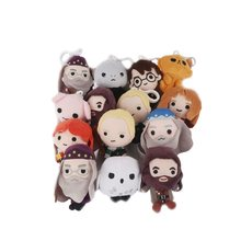 Bonecos de pelúcia com 11cm, harried potter, magic school, malfoy, ron, hermione, voldemort, dobbi, hedwig, bolsa fofa pingentes(China)