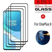 Vidro temperado para oneplus 9 à prova de explosão protetor de tela de vidro para oneplus 9 filme de câmera para oneplus 9 1 + 9