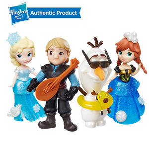 Hasbro-Disney Frozen Little Kingdom Elsa, Anna, Shimmers, Kristoff, laúd, Olaf, juguete giratorio, regalo de muñecas de Navidad para niñas