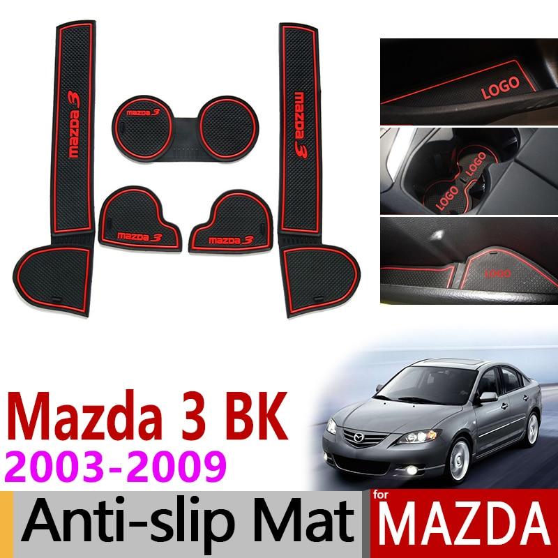 المضادة للانزلاق بوابة فتحة حصيرة قاعدة أكواب من المطاط لمازدا 3 BK 2003 2004 2005 2006 2007 2008 2009 MK1 Mazda3 mp اكسسوارات ملصقات السيارات