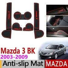 Противоскользящий коврик для прорези двери, резиновые подставки для Mazda 3 BK 2003 2004 2005 2006 2007 2008 MK1 Mazda3 MPS, аксессуары, автомобильные наклейки