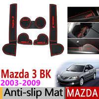 Anti-dérapant Porte Fente Tapis Coaster En Caoutchouc pour Mazda 3 BK 2003 2004 2005 2006 2007 2008 2009 MK1 Mazda3 DÉPUTÉS Accessoires Voiture Autocollants
