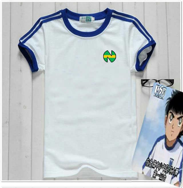 أنيمي الكابتن Tsubasa جيرسي لكرة القدم دعوى موحدة نسيج سريع الجفاف طفل الكبار حجم OZORA Tsubasa تأثيري حلي القطن تي شيرت