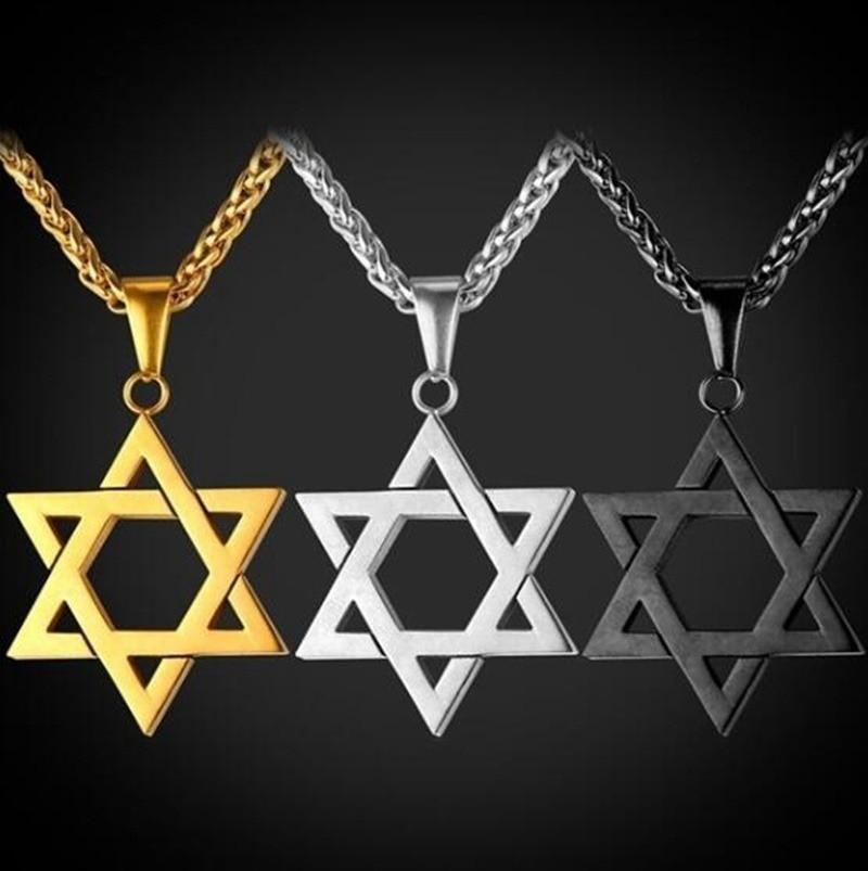 Мужские и женские модные Пальма Звезда Давида подвеска израильские, еврейские цепи Звезда Давида ожерелье ювелирные изделия